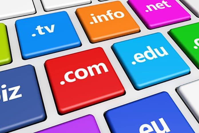 exemple de possibilités d'extension de nom de domaines internet